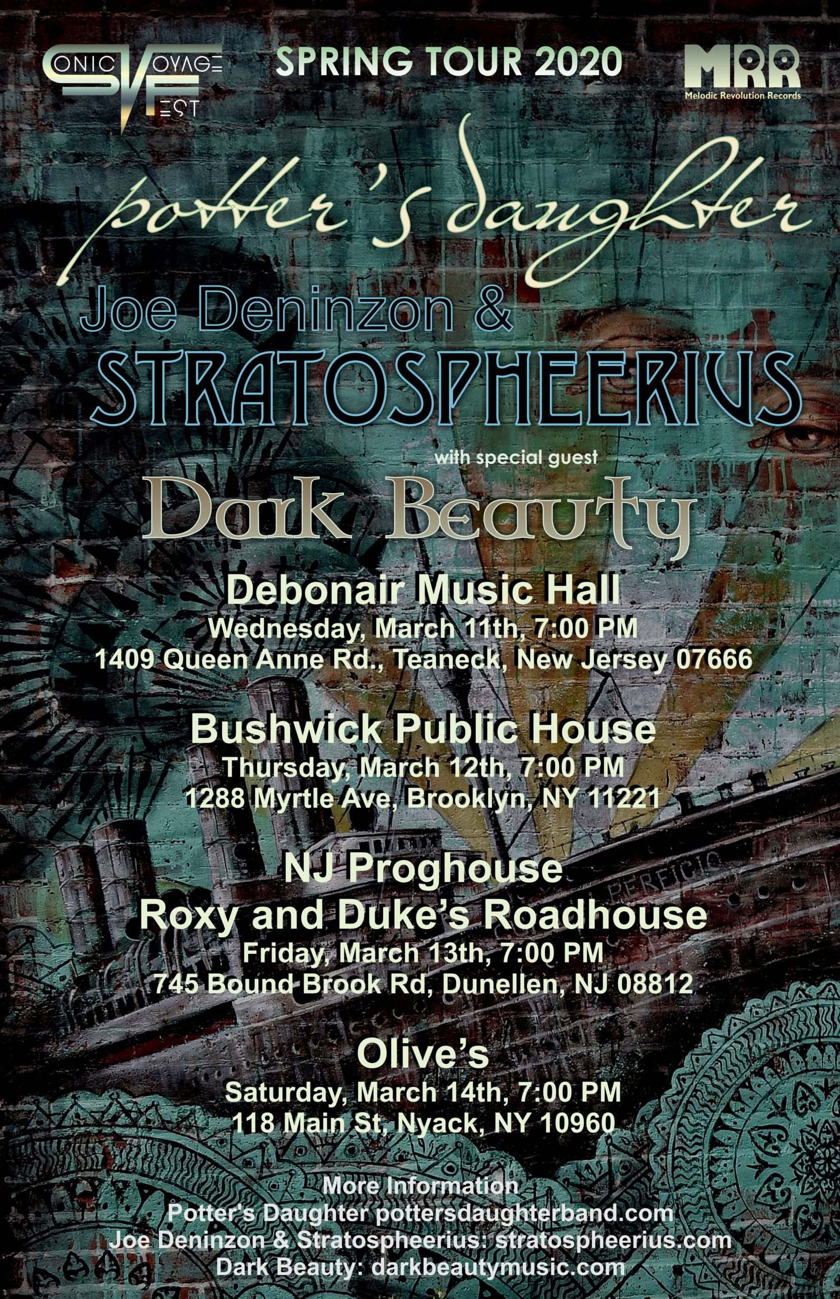 Stratospheerius Dark Beauty Potters Daughter March 2020 Tour